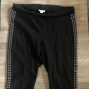 EUC black studded leggings
